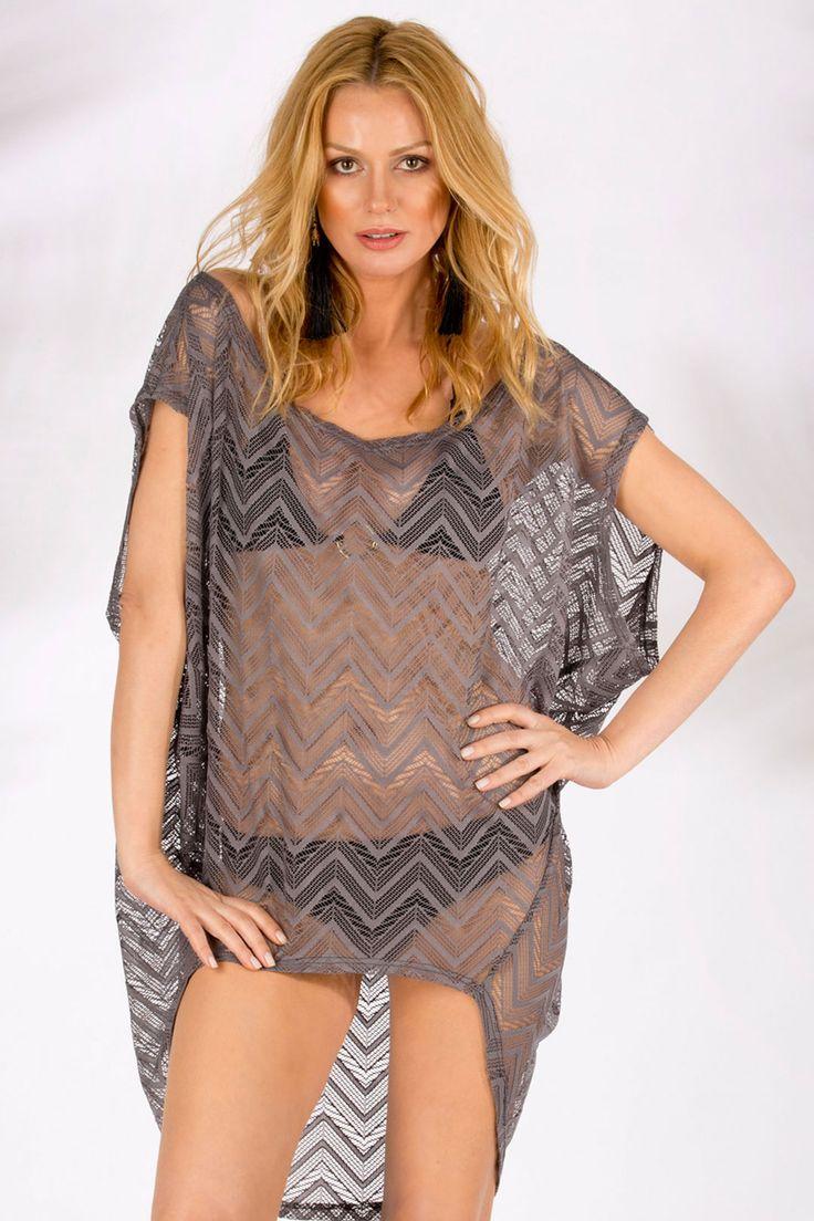 Sherbet Design - Melo Gri Plaj Tuniği http://brand-store.com/url/606918 #sherbetdesign #beachdress #beachwear #plajelbisesi #plajmodası #brandstore