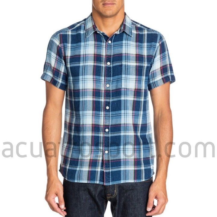 Camisa de cuadros modelo Hythe de Quiksilver para hombre.   Estampado integral con bolsillo en el pecho.   Diseño en manga corta.   Composición: 100% algodón.