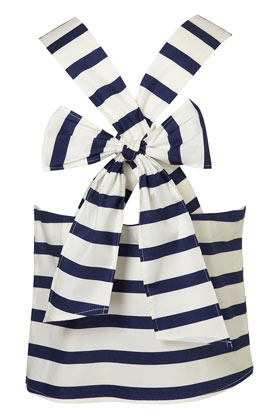 Love the stripes: Bow Back, Style, Stripe Top, Summer Top