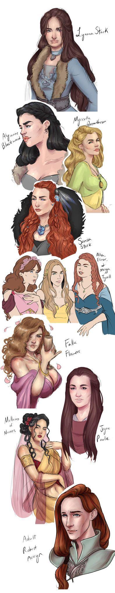 ASOIAF Sketches by I-Am-A-Lady-Damn-It