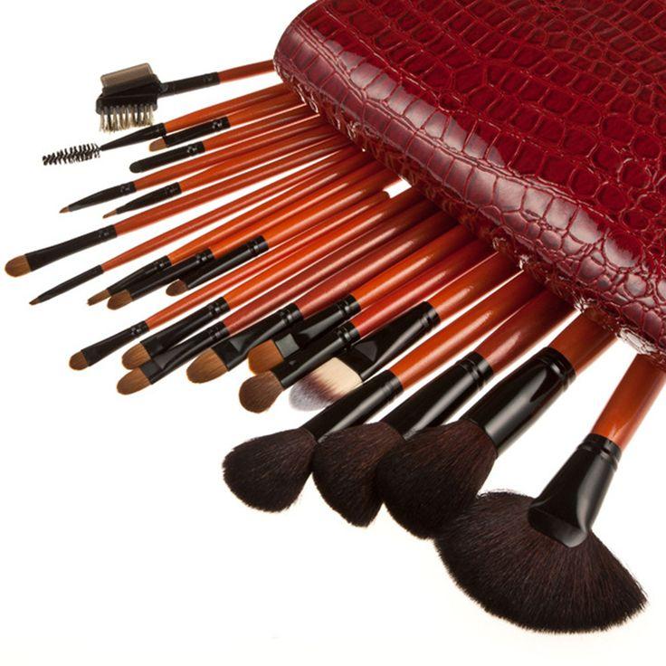 2017 New Top Quality Pro Goat Hair Makeup Brushes Professional 22pcs/set Cosmetic Make Up Brush Fan Powder Foundation Brush Kit