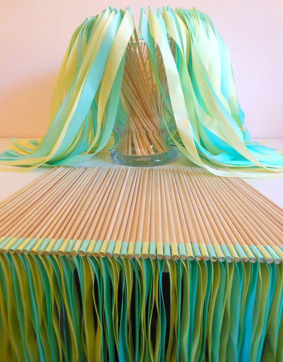 Wedding ribbon wands by BellaBrideCreations on Etsy, $1.00