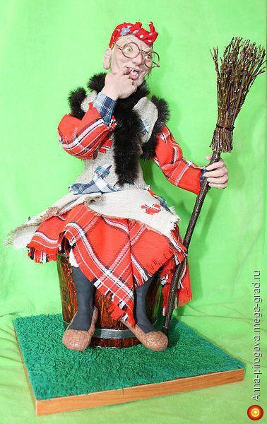 """Авторская кукла """"Баба Яга"""" - авторская коллекционная кукла. МегаГрад - online выставка-продажа авторской ручной работы"""