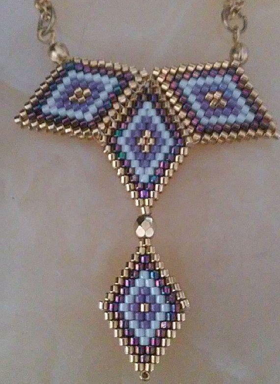 Handmade miyuki-delica necklace-earring  free shipping