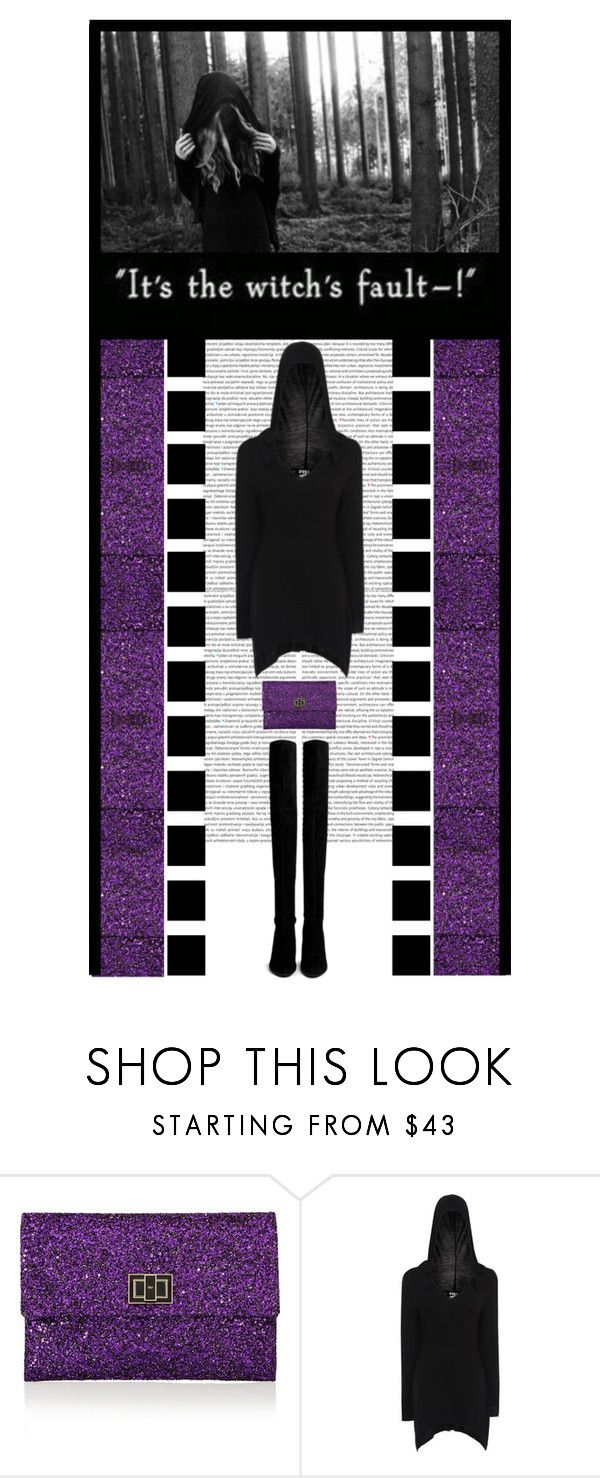 """""""The Gothic Shop (46)"""" by irresistible-livingdeadgirl ❤ liked on Polyvore featuring Anya Hindmarch, Stuart Weitzman, black, Boots, emo, StuartWeitzman, THIGHHIGHBOOTS, goth, bands and gothic"""