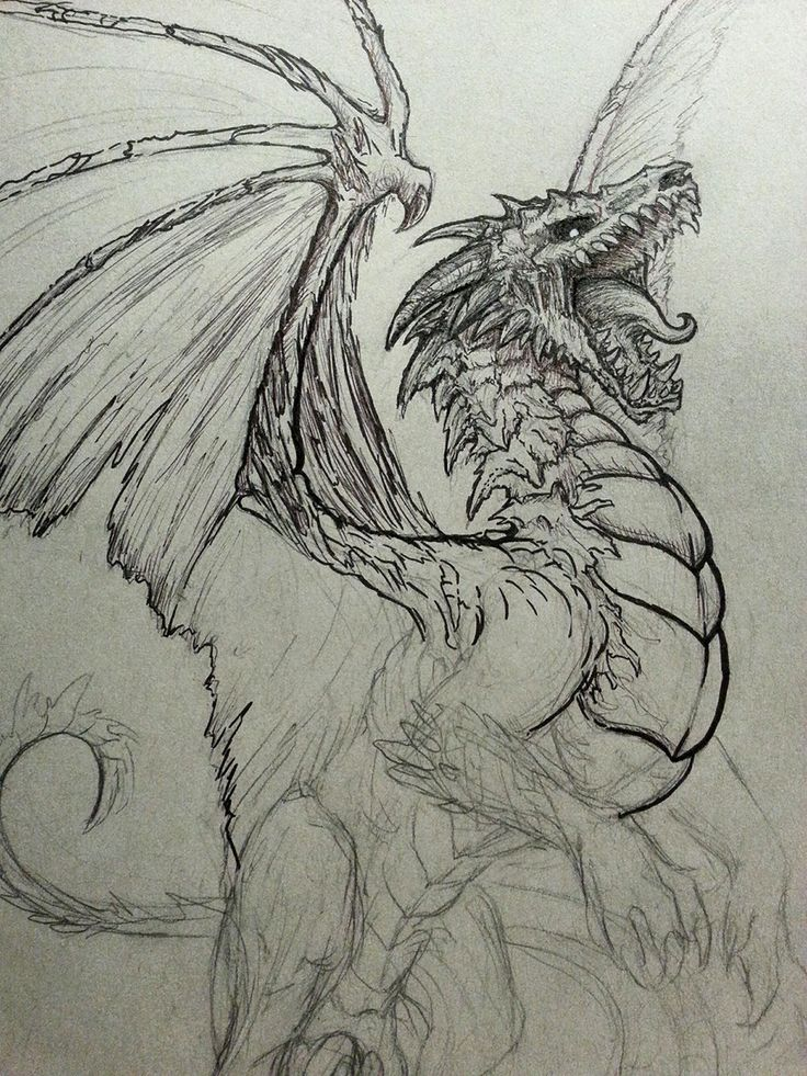25 best ideas about cool dragon drawings on pinterest for Cool fantasy drawings