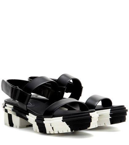 Balenciaga Unit Leather Sandals For Spring-Summer 2017