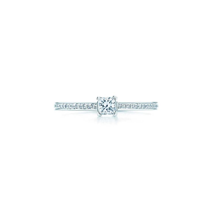 Tiffany Grace™ ring in platinum with diamonds. | Tiffany & Co. promise ring