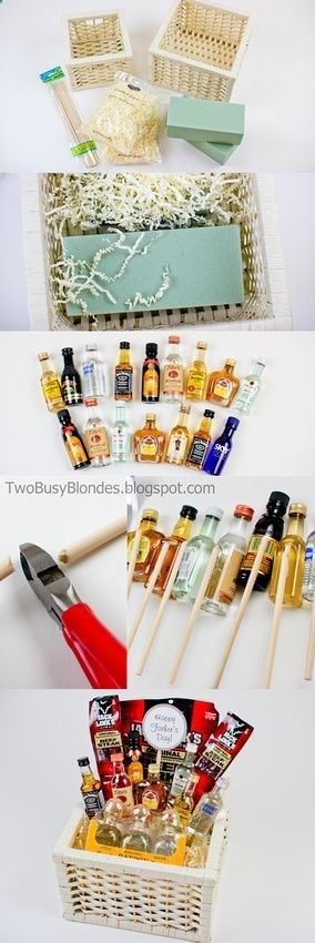 TWO BLONDES Enthusiastically Creating and Crafting EVERYTHING!: Happy Fathers Day! - Gift basket picture ideas