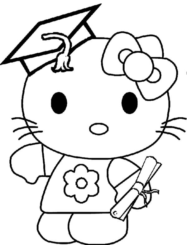Graduation Hello Kitty Graduation Day Coloring Pages Hello Kitty Coloring Kitty Coloring Hello Kitty Colouring Pages