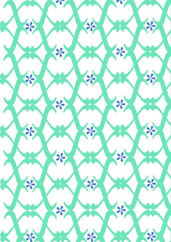 """Sabon LT std, Jan Tschichold, 1967. pattern 1 a colori: """"Geometrico"""". Ho deciso di distinguere i due diversi glifi da due colori. Questi risultano però esser legati dalla tonalità del colore che rende la composizione armoniosa."""