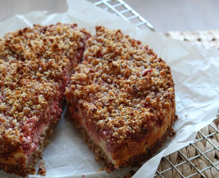 Aardbeien Kruimeltaart zonder tarwe en gluten