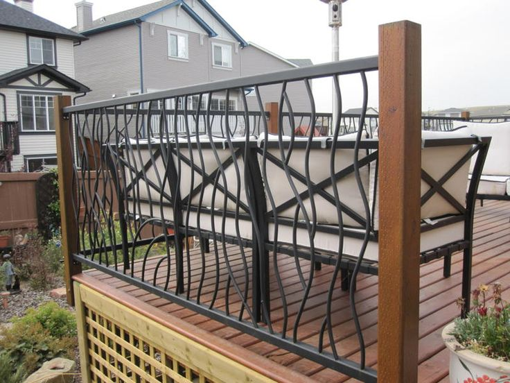 Exterior Design, Iron Deck Railing Design: Porch Rail Design With Stairs