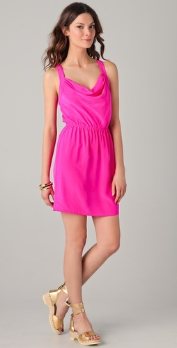 Hot Pink Criss-Cross Back Dress