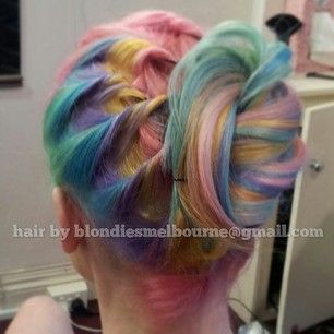 Like really, really neat. | Pastel Rainbow Hair Is Basically The Prettiest Thing Ever