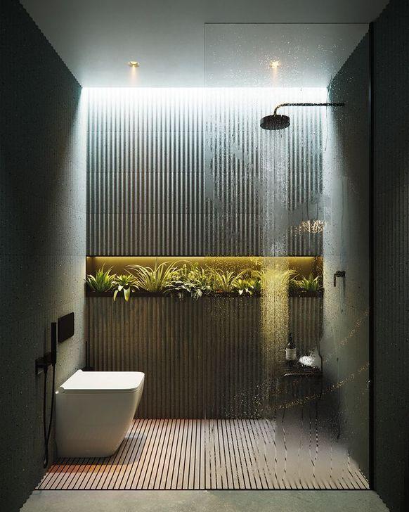 48 Spectacular Bathroom Design Ideas With Romantic Vibes En 2020 Salle De Bains Moderne Salle De Bain Design Idee Salle De Bain