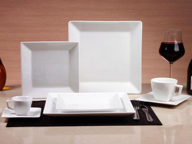 Aparelho de Jantar 42 Peças Porcelana Oxford Porcelanas Quartier White - Aparelhos Jantar 42 pçs ou mais - Magazine Luiza