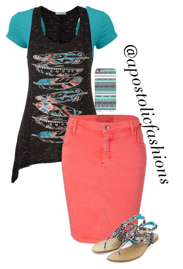 """Apostolic Fashions #1139"" by apostolicfashions on Polyvore featuring maurices and Closed"