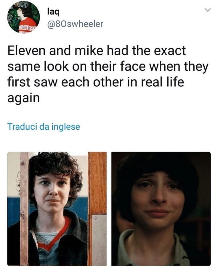 """2,423 Likes, 8 Comments - I Stan Stranger Things (@finnwolfhard.it) on Instagram: """"I'm not crying you are  #mileven #mikewheeler #eleven #strangerthings2"""""""