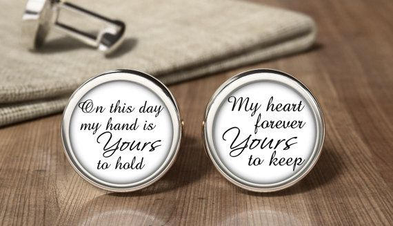 Wedding Cuff Links, Cufflinks, Design Your Own Wedding Cufflinks, Groom, Groomsman, Bride's Father, Best Dad, Son Of The Bride, Personalized
