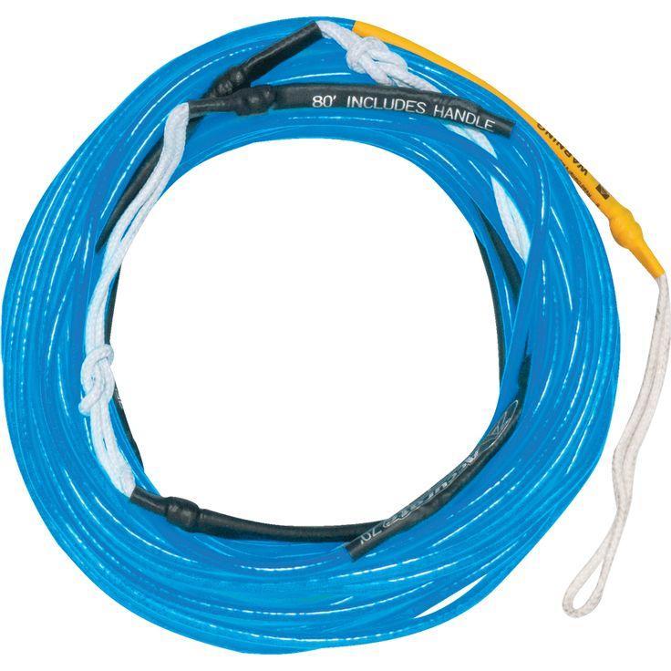 Hyperlite Wakeboard Rope 80' Silicone Line- Blue