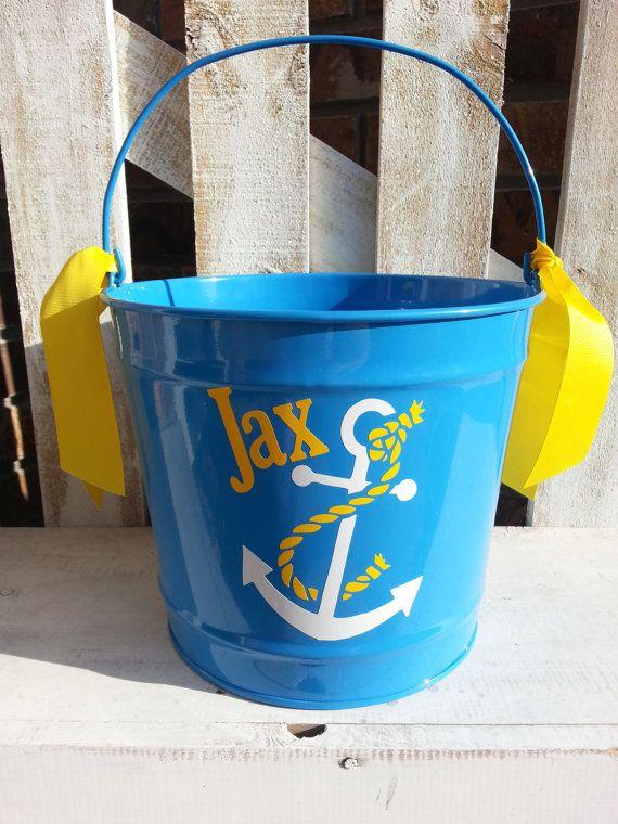 87 best easter basket ideas images on pinterest easter baskets personalized anchor10qt pail easter bucket basket negle Images