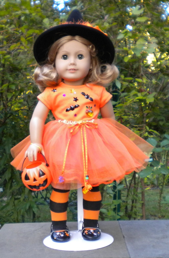 "Halloween Tutu set for American Girl or other 18"" dolls. $34.00, via Etsy."