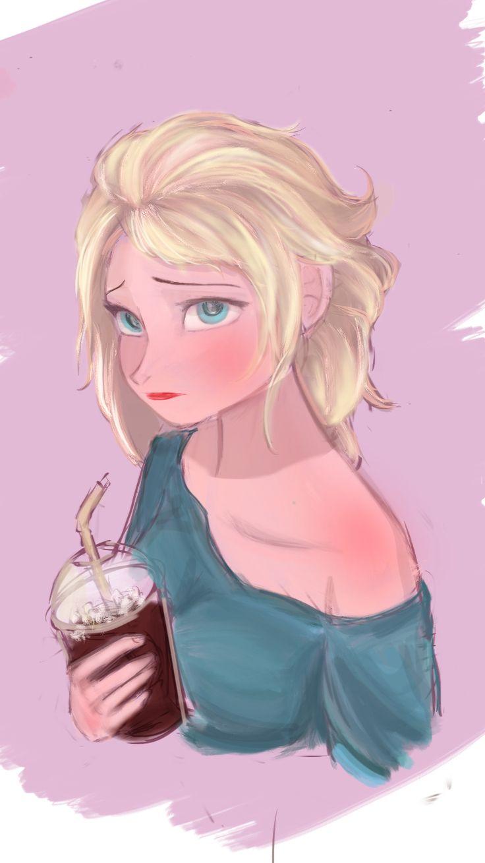 Elsa looks really cute here.
