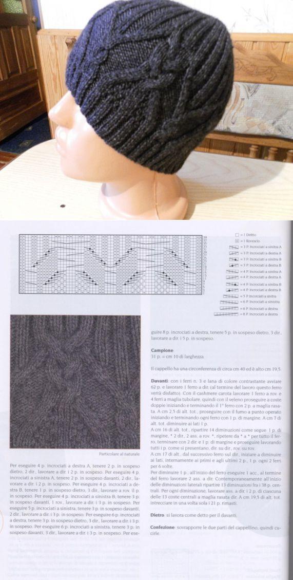 мужская шапка. | Шапки, шарфы, палантины... | Постила