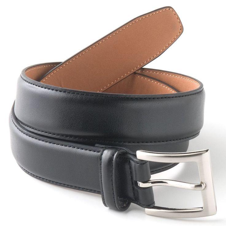 Big & Tall Croft & Barrow® Soft Touch Faux-Leather Belt, Men's, Size: 46, Black
