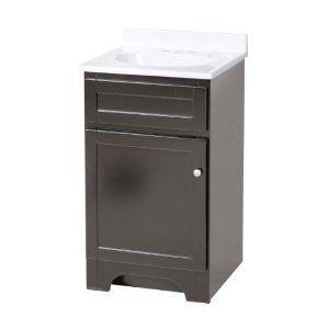 Pin by cg on downstairs bath ideas pinterest - Bathroom vanities 18 inches deep ...