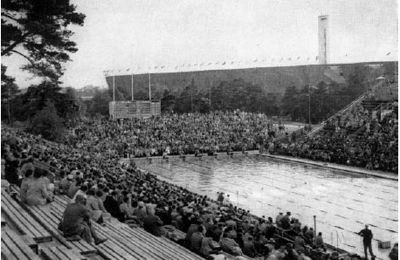 1952 Olympic swimming pool, Helsinki. Originally Helsinki was awarded the 1940 games but WW2 cancelled those Olympics.