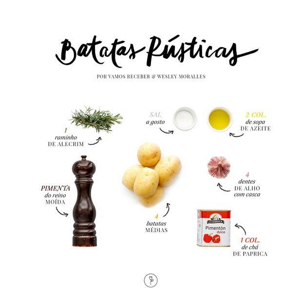 Batata rústica com alecrim e páprica: aprenda receita fácil (Foto: Rogério Voltan)