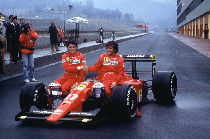 f1pictures:  Alesi , Prost Ferrari 1991