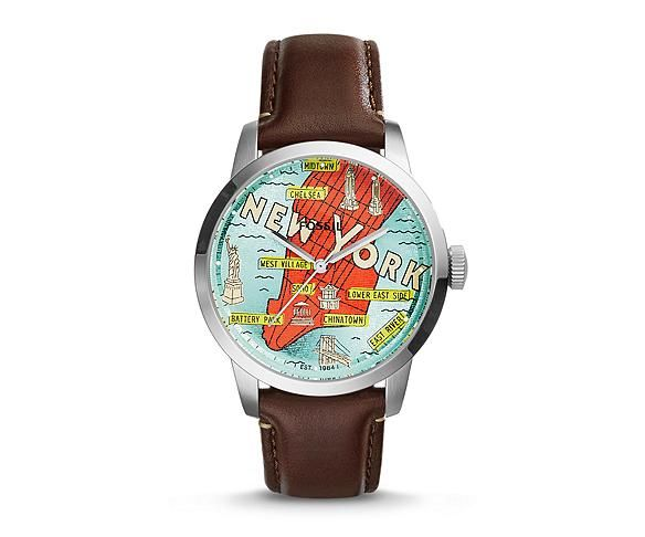 Mens Leather Watches, Leather Strap Watches for Men | FOSSIL
