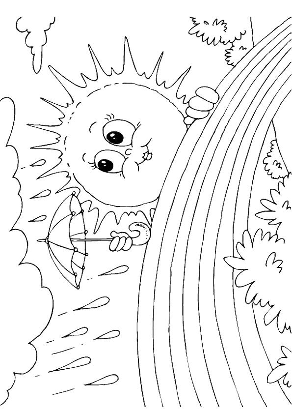 Print Coloring Image Momjunction Coloring Pages Sun Coloring Pages Color