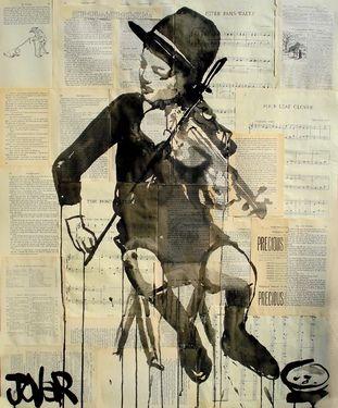 "Saatchi Online Artist Loui Jover; Drawing, ""little maestro"" #art"