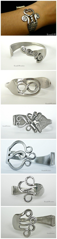 Hand-sculpted Fork Bracelet                                                                                                                                                     More