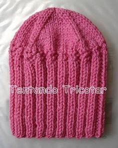 Tentando Tricotar: Gorro fácil e rápido em tricot