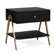 Theo Bedside Table with Polished Brass