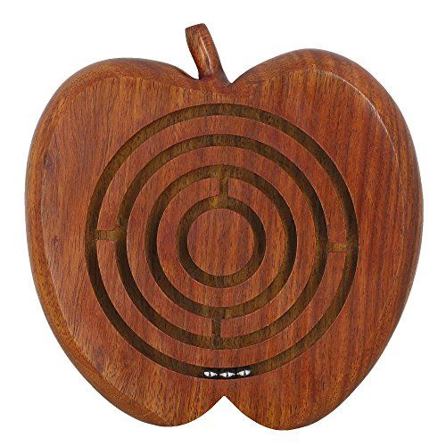 Indian Wooden Ball in a Maze Puzzle Handheld Dexterity Game for Kids Apple Shape5 Inches ShalinIndia http://www.amazon.in/dp/B00QGP30S2/ref=cm_sw_r_pi_dp_2A.Avb1NA6N44