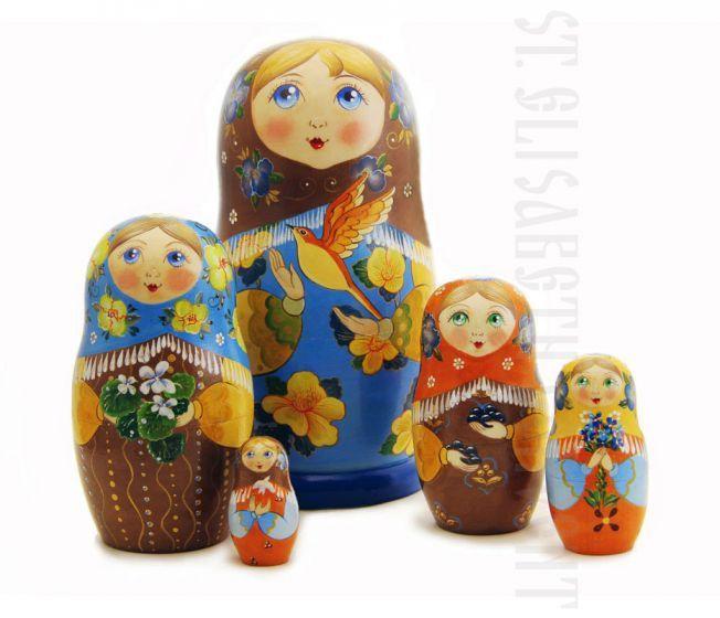Nesting Doll Set of 5 $40.00, $40.00. Catalog of St Elisabeth Convent. Made to order.#CatalogOfGoodDeed #GiftIdea #gift #present #PresentandCharity #Charity #toy #kids #matryoshka #nestingdolls #handmade #woodentoys #ecotoys #craft