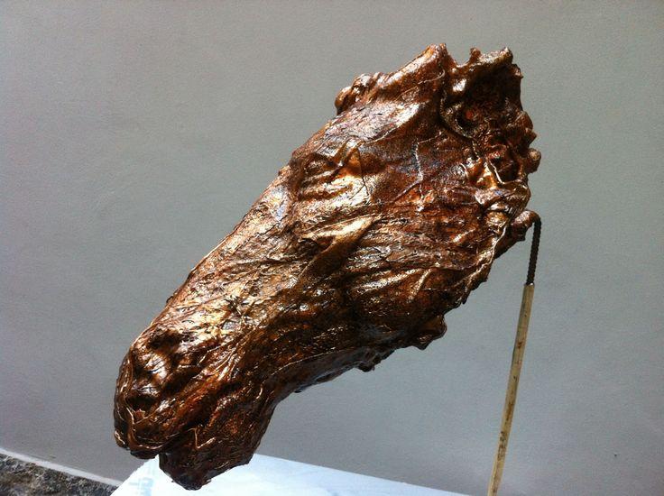 Strong horse   sculpture horse fusion of polycarbonate - 2014 - 80x82x30 cm Ph. www.mariavittoriagozio.it