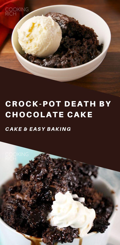 Crock-Pot-Tod durch Schokoladenkuchen