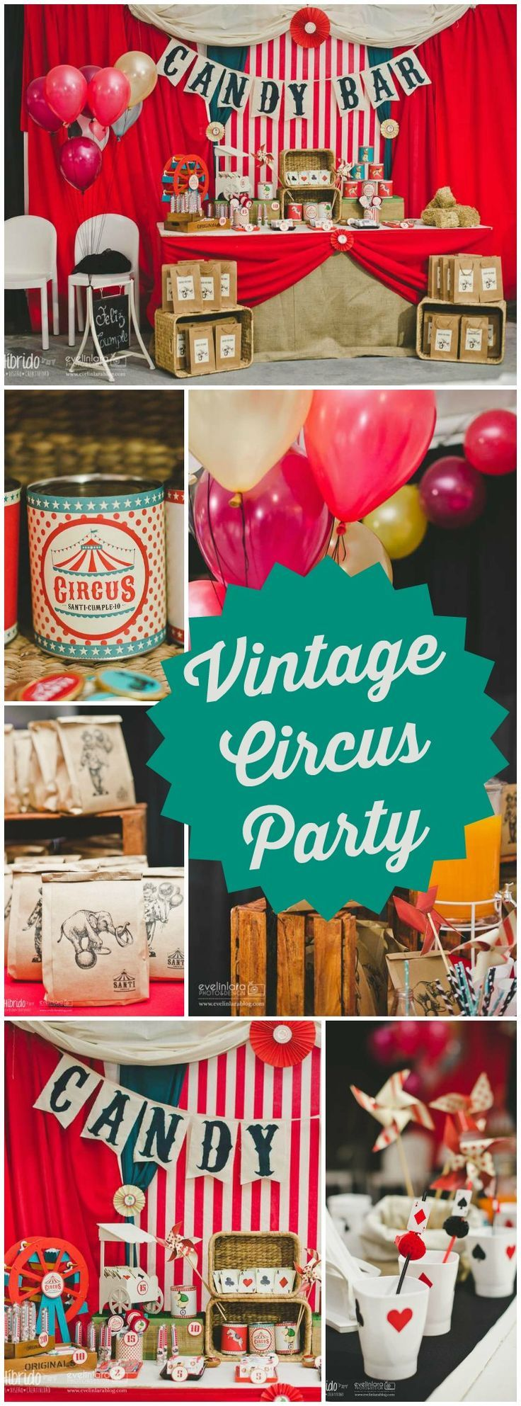 So many great details at this vintage circus party! See more party ideas at http://CatchMyParty.com!