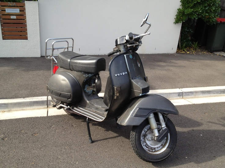 The mighty 1985 Vespa PX200. We had plenty of good times.