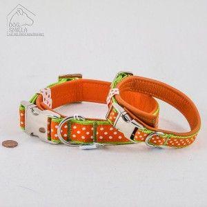 """Leder Halsband """"Dots"""", orange  24,90€–29,90€"""