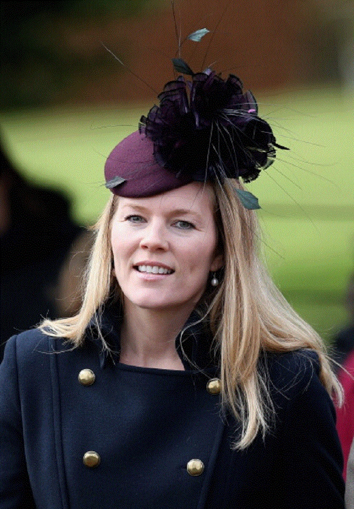 Autumn Phillips leaves St Mary Magdalene Church after attending the traditional Christmas Day church service
