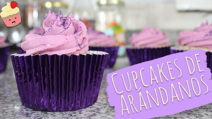 CUPCAKES DE ARANDANOS ¡Y BRILLANTINA! - Vainilla Crocante