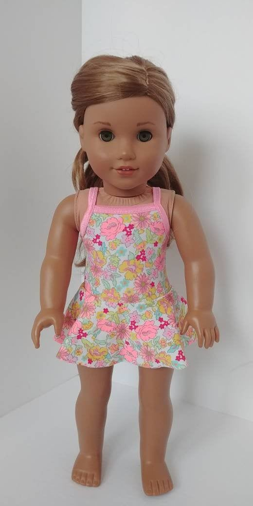 Fits like American girl doll clothes. 18 inch doll clothing. 18 inch doll clothes. Doll swimsuit. 18 inch doll bathing suit. Swim suit